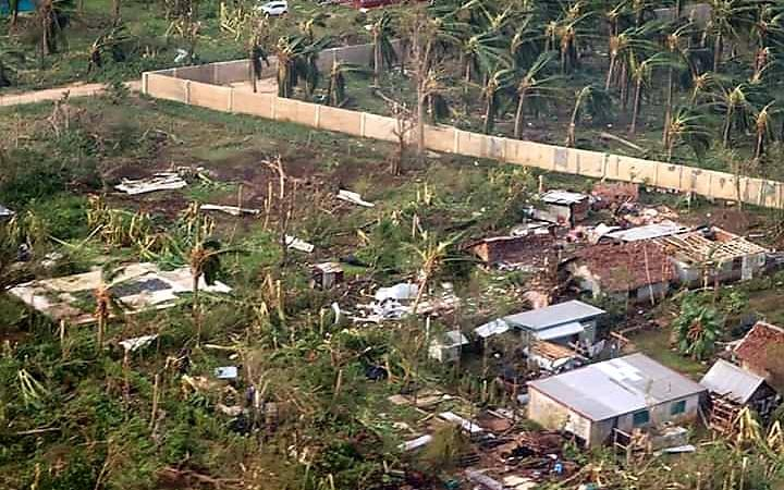 Damage caused by Cyclone Harold on the Vanuatu island of Santo.