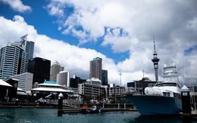 Auckland City's marina during the Covid-19 alert level four lockdown.