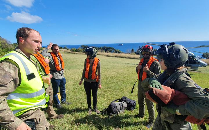 New Zealand Defence Force has helped DOC staff as well as MetService and GNS staff at Rangitāhua / Raoul Island return home after the announcement of the lockdown.