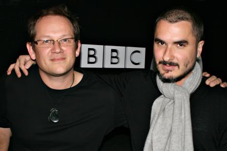 Zane Lowe and Andrew Dubber by Sam Coley