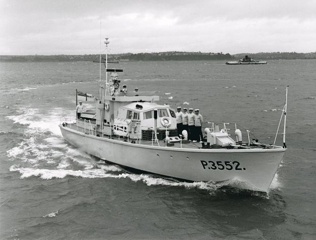 Paea in survey motor launch livery c courtesy National Museum of the Royal New Zealand Navy