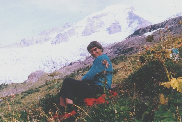 Barbara Pentland in the mountains