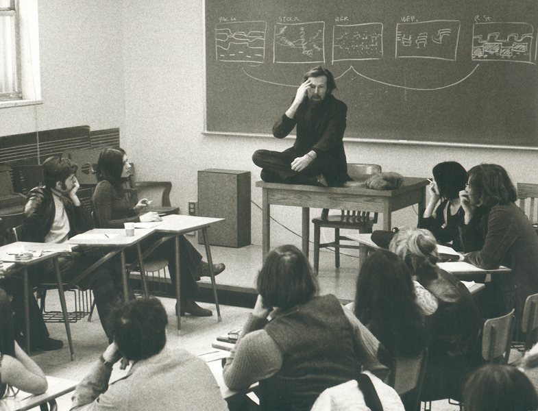 Schafer teaching at the University of Montreal