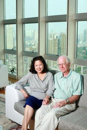Wen and Michael Powles in their Shanghai Apartment