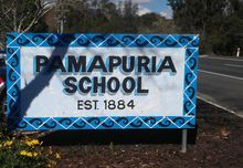 Abuse pamapuria school sign