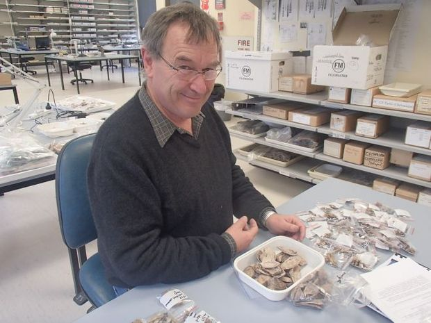 Ian Smith in his archaeology lab