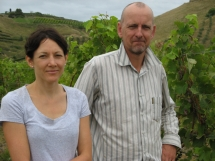 Andria Monin and Dermott McCollum from Stonecroft Wines.