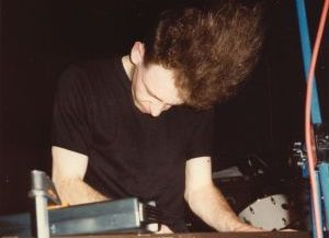 James Gardner performing at the Purple Haze club in Brighton in July 1985.