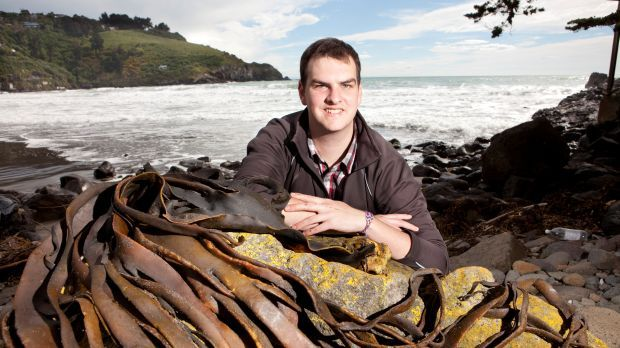 Anton Mather with some seaweed