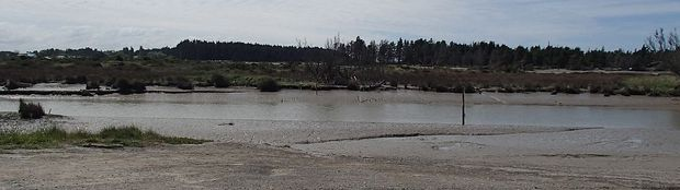 Estuary at Waimakariri River mouth