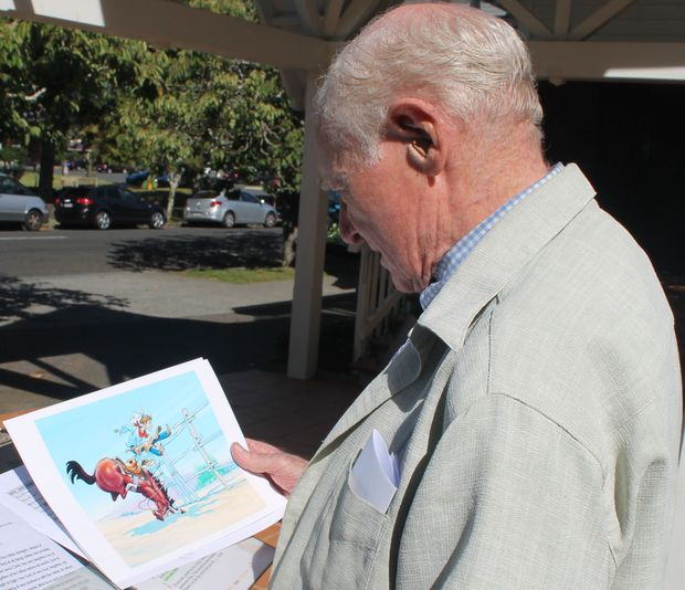 Disney Former Disney animator John Ewing reviewing some of his work