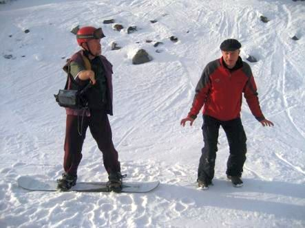 Mike Gourley and Bob Williams Snowboarding