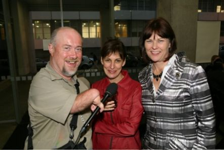 Mike with Raukatauri Music Therapy Centre Director Anne Bailey and guest speaker Debbie Andrews