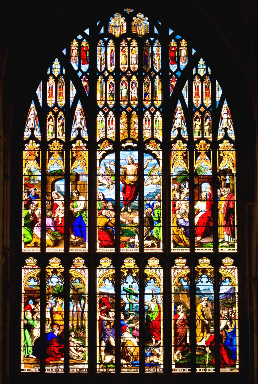 Norwich Cathedral west window, by George Hedgeland (1853)