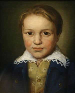 A portrait of the 13-year-old Beethoven by an unknown Bonn master (c. 1783)