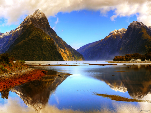 Morning Reflections Milford Sound by Paul Bica
