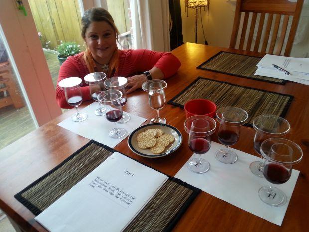 Rosemarie Neuninger and the wine tasting