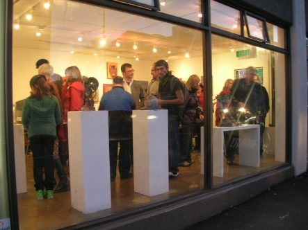 Opening Night at Roar Gallery's new street front location.