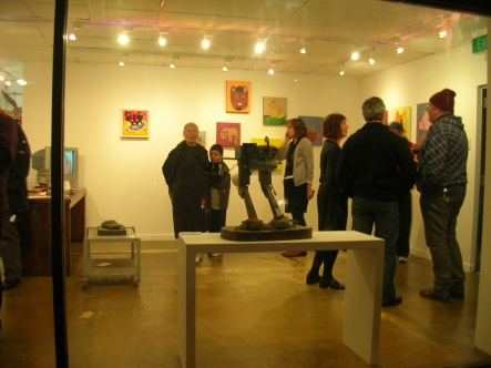 Through a glass darkly - view of Exhibition at ROAR Gallery.
