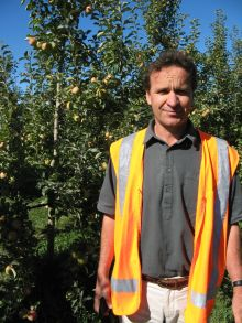 Organic apple orchardist John Bostock