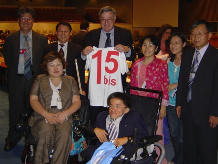 Ambassador Don MacKay (with T-Shirt) and members of the South Korean delegation.