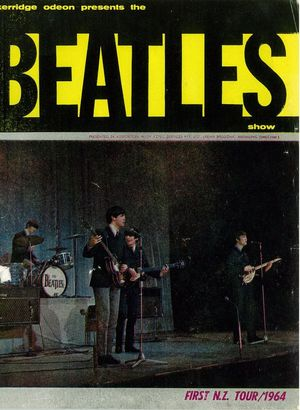 Beatles in NZ Tour programme front cover