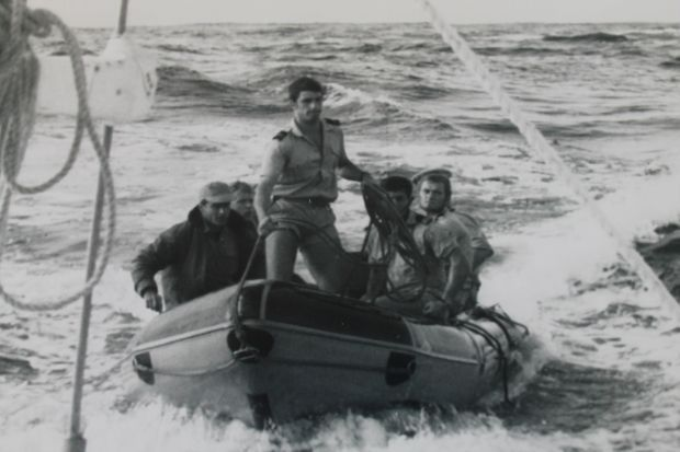 Seven French commandos on their way to intercept the Vega and IMG Some of the commandos on board the Vega