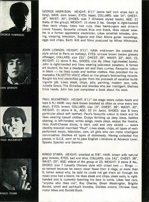 Beatles in NZ Tour programme inside bios cropped