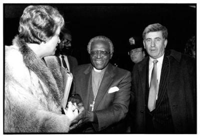 Bob Scott with friend Desmond Tutu