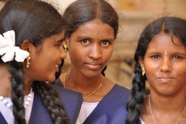Girls from The Karunai Illam Trust in South India
