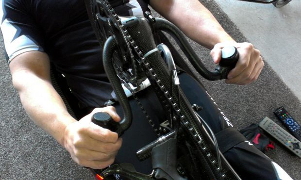 Shane spends hours turning over the pedals as part of his winter training regime RNZ