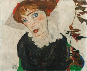 Egon Schiele Portrait of Wally Neuzil WikiCommons