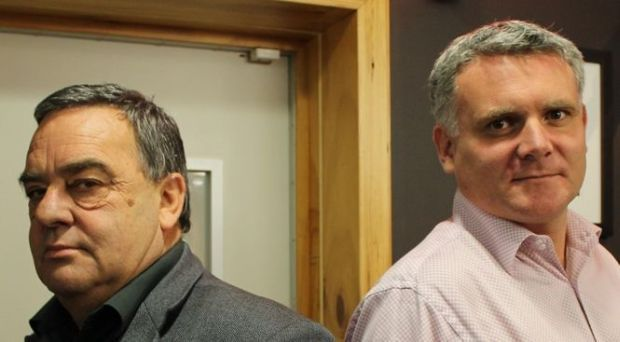 Mike Williams and Matthew Hooton by RNZ Dru Faulkner crop