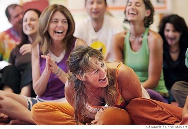 Laughing yogis image supplied