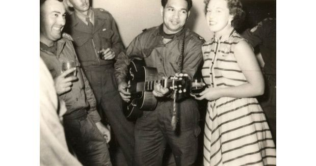 Johnny Cooper and Pat McMinn at a singalong Photo Pat McMinn collection Chris Bourke