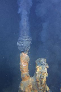 An active hydrothermal vent, or black smoker