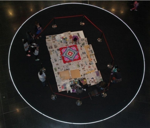 The view from above in Te Papa