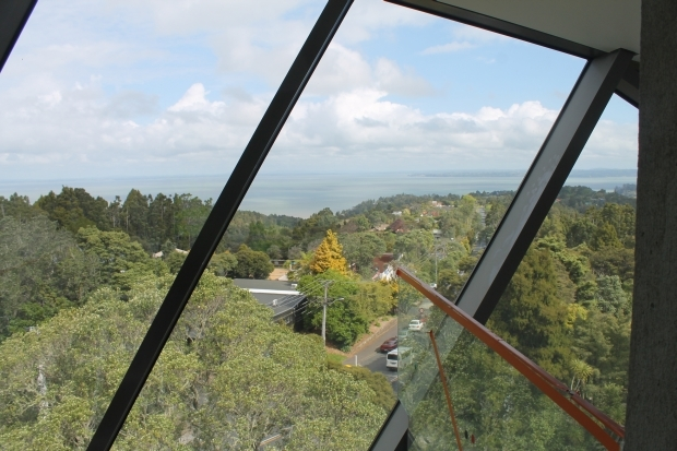 View over Manukau Harbour from the gallery s viewing platform
