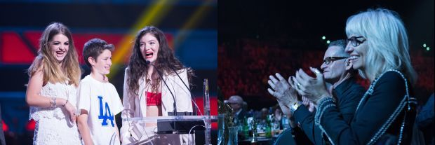 Lorde and family at the NZMA Photos Topic Pictures