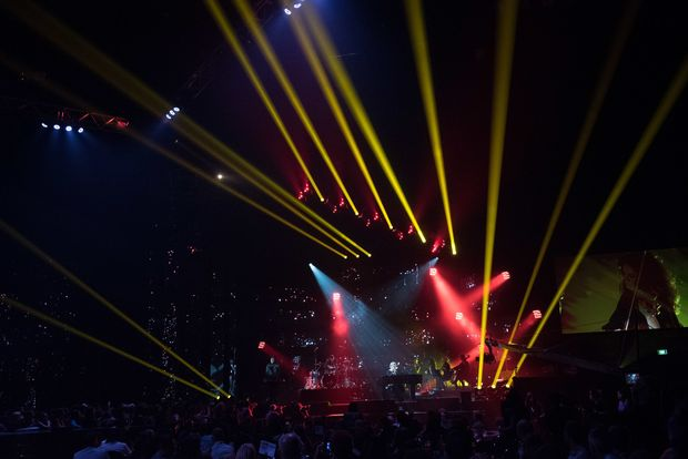 On stage at the VNZMA Broods perform live Photo Topic Images