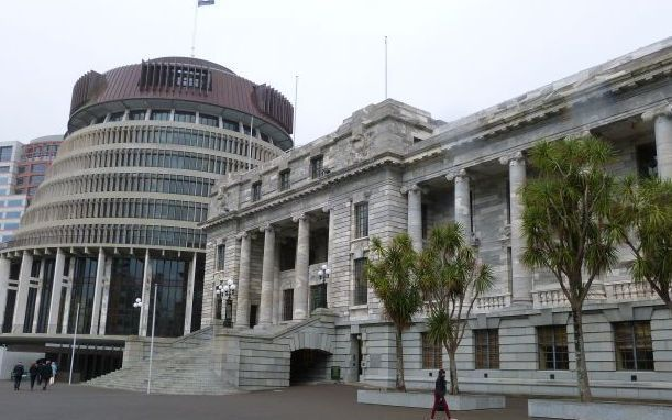 Beehive and parliment RNZ Philippa Tolley