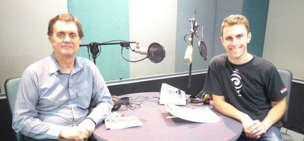 Martin Lodge at RNZ with Robbie Ellis crop