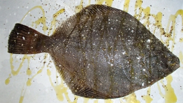 Whole baked flounder with gremolata on crushed new season for How do you bake fish