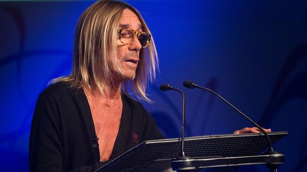 Iggy Pop delivering his Peel Lecture photo BBC