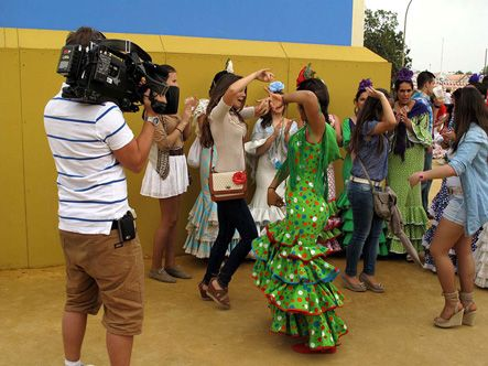 Filming flamenco in Seville