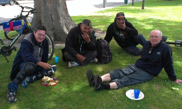 Lunch in Latimer Square with Help for the Homeless