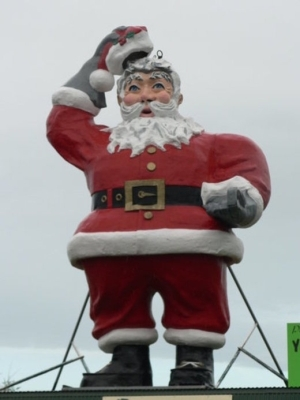 Father Christmas at the Levin Adventure Park