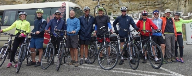 The party was a group of Australians Spanish riders doing the Alps Ocean cycleway down the Waitaki Valley