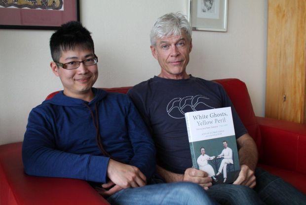 White Ghosts Yellow Peril writers Zeng Dazheng and Steven Eldred Grigg in Wellington