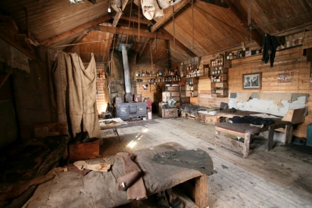 NZAHT Interior Shackleton s hut Cape Royds Photo nzaht org web